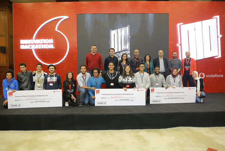 Awarded teams at Vodafone Innovation Hackathon 2018
